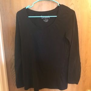 4/$25 Splash black long sleeve tee